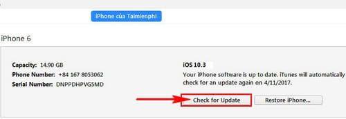 Hướng dẫn cách update iOS 10.3.1 cho iPhone, iPad bằng iTunes, OTA (6)