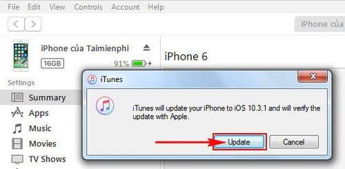 Hướng dẫn cách update iOS 10.3.1 cho iPhone, iPad bằng iTunes, OTA (8)