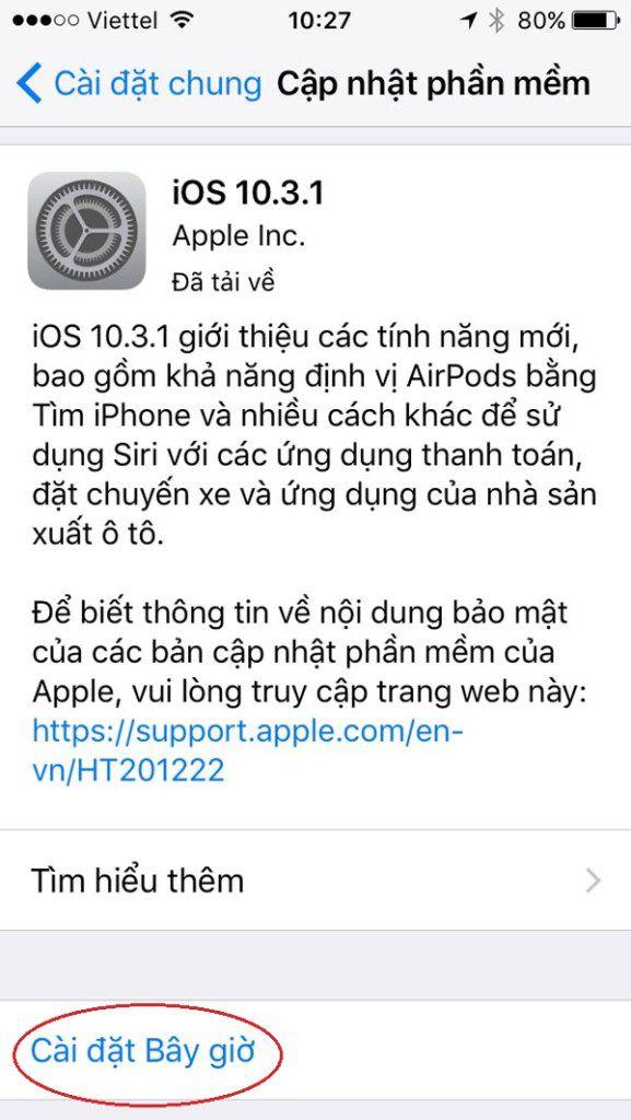 Hướng dẫn cách cập nhật (nâng cấp) iOS bản mới nhất cho iPhone, iPad (2)