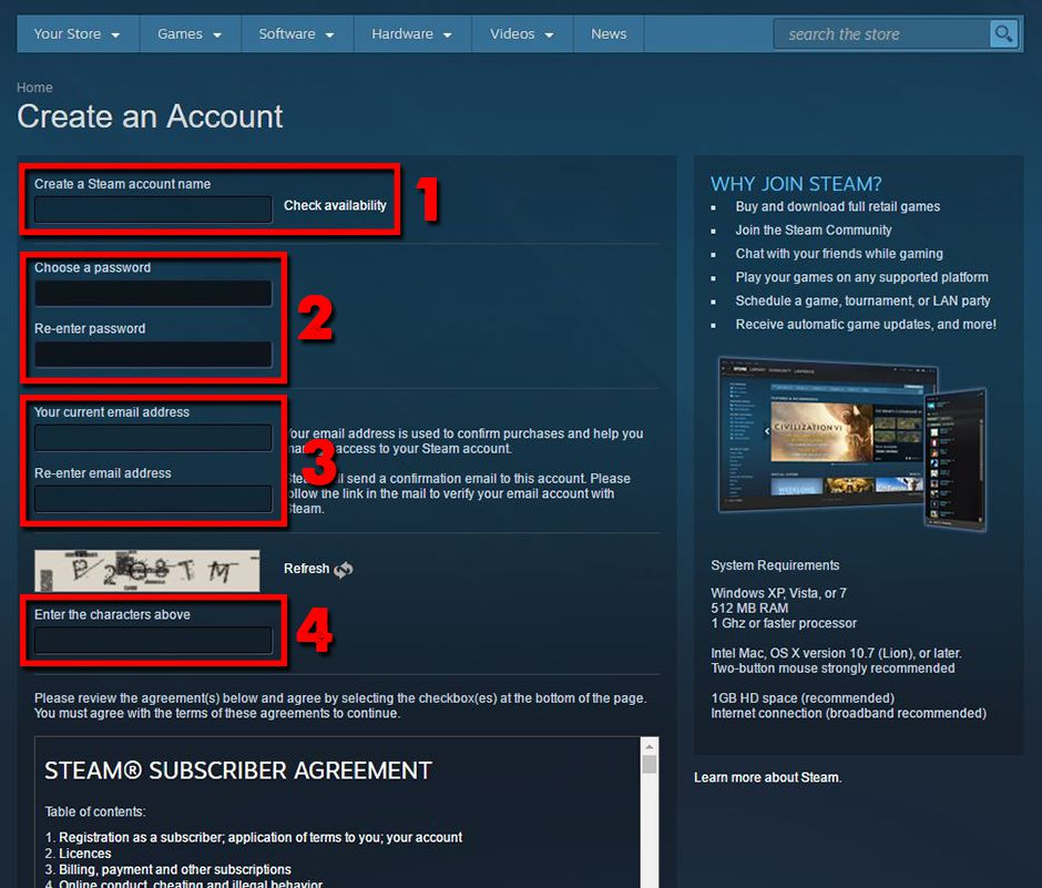 Hướng dẫn cách cài đặt và đăng ký tài khoản Steam trên PC (4)