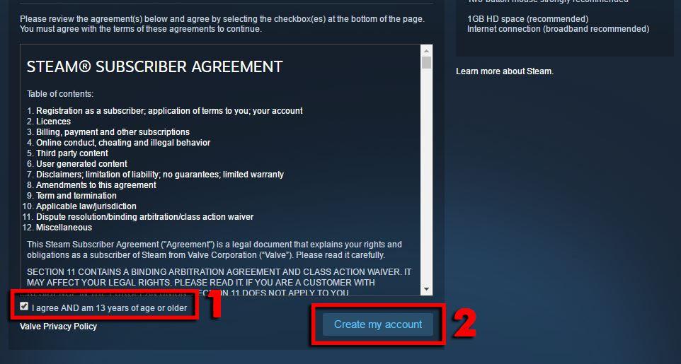 Hướng dẫn cách cài đặt và đăng ký tài khoản Steam trên PC (5)
