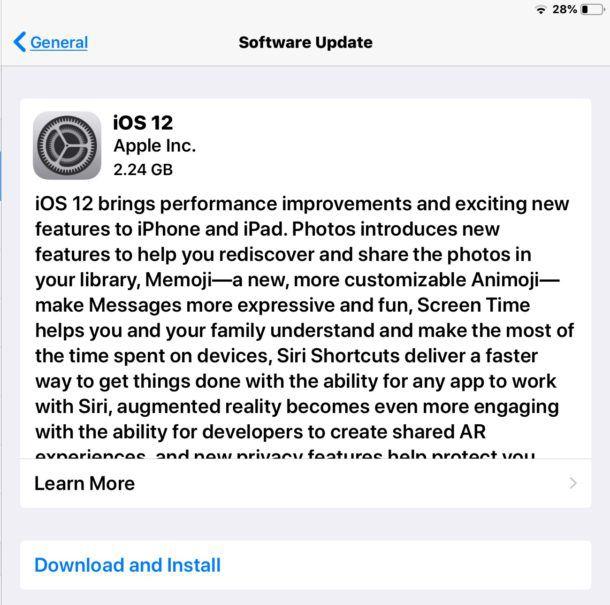 Hướng dẫn cách nâng cấp (cập nhật) iOS 12 chính thức cho iPhone, iPad (2)