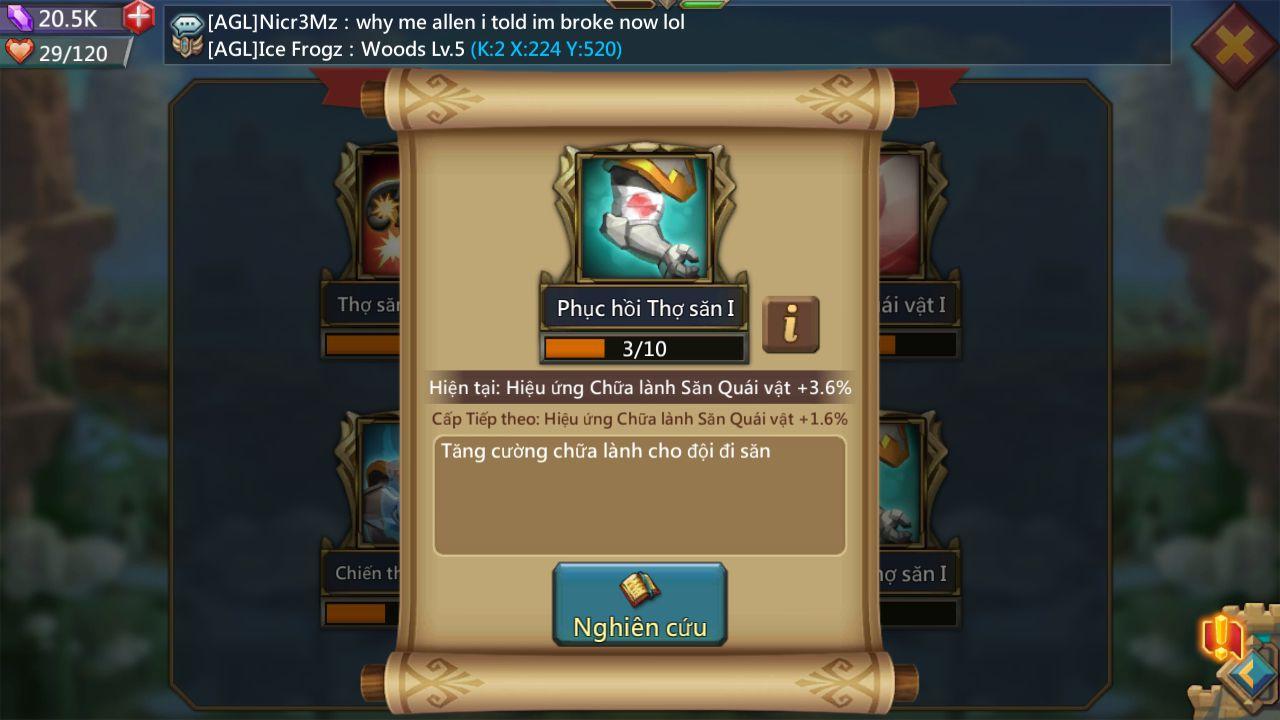 Bảng đội hình tướng mạnh săn quái trong game Lords Mobile (6)