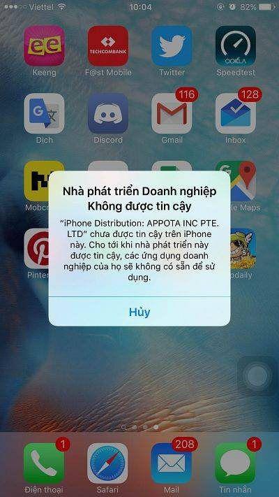 Cách cài đặt Võ Lâm Truyền Kỳ I mobile cho Iphone từ thế hệ 6S trở lên (5)
