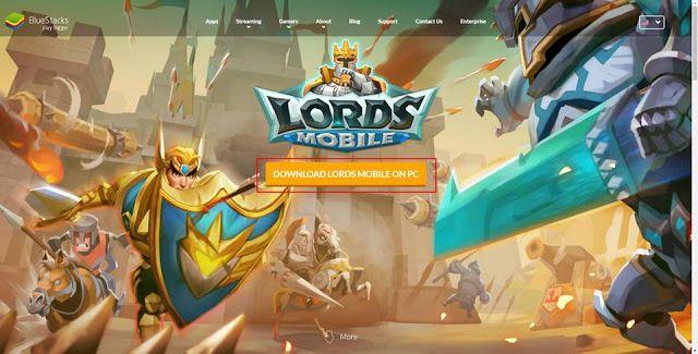 Hướng dẫn chơi game Lords Mobile trên máy tính PC bằng Bluestacks (1)