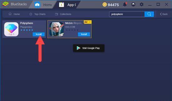Mẹo chơi, cách chơi Polysphere trên PC qua giả lập Android Bluestacks (3)