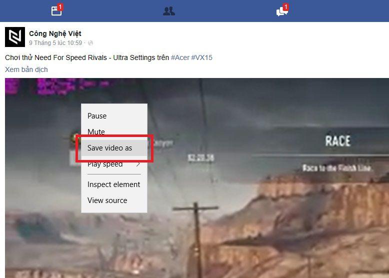 Cách tải video trực tiếp trên facebook về máy tính cực đơn giản (3)