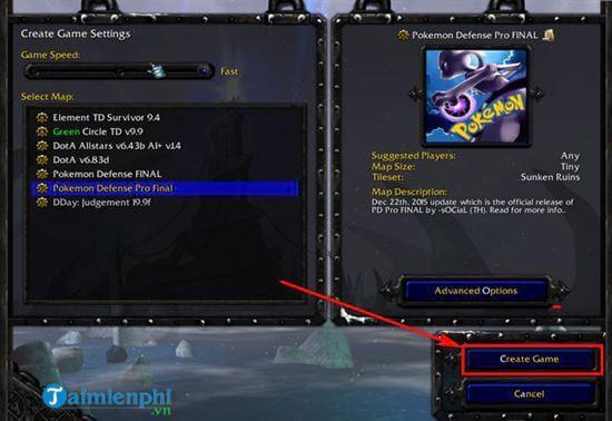 Hướng dẫn cách chơi Pokemon Defense trong Warcraft đơn giản nhất (4)