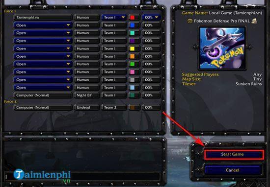 Hướng dẫn cách chơi Pokemon Defense trong Warcraft đơn giản nhất (5)
