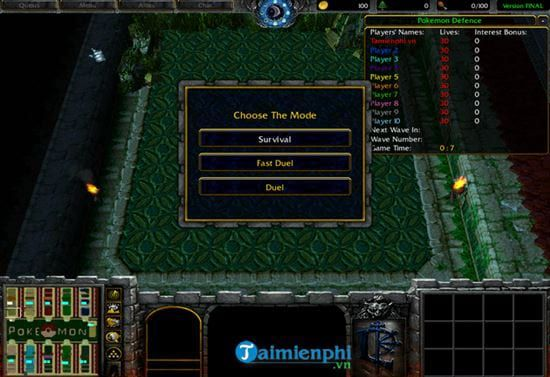 Hướng dẫn cách chơi Pokemon Defense trong Warcraft đơn giản nhất (6)