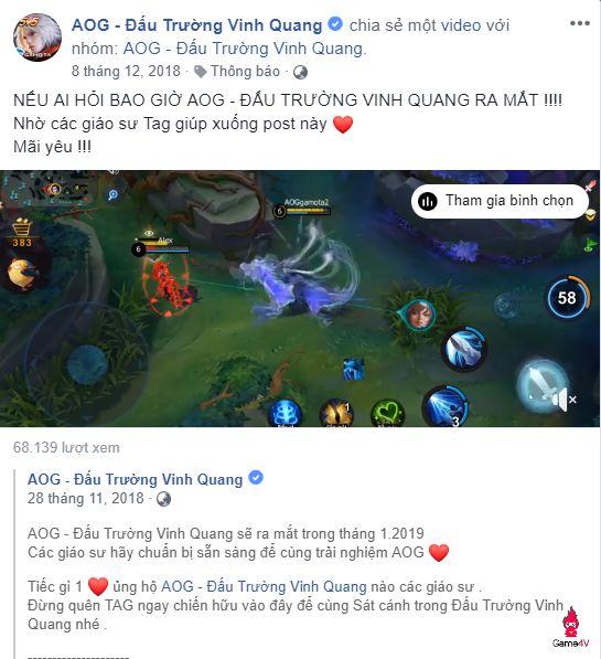 Rộ tin game AOG – Đấu Trường Vinh Quang ra mắt trong tháng 3 (1)