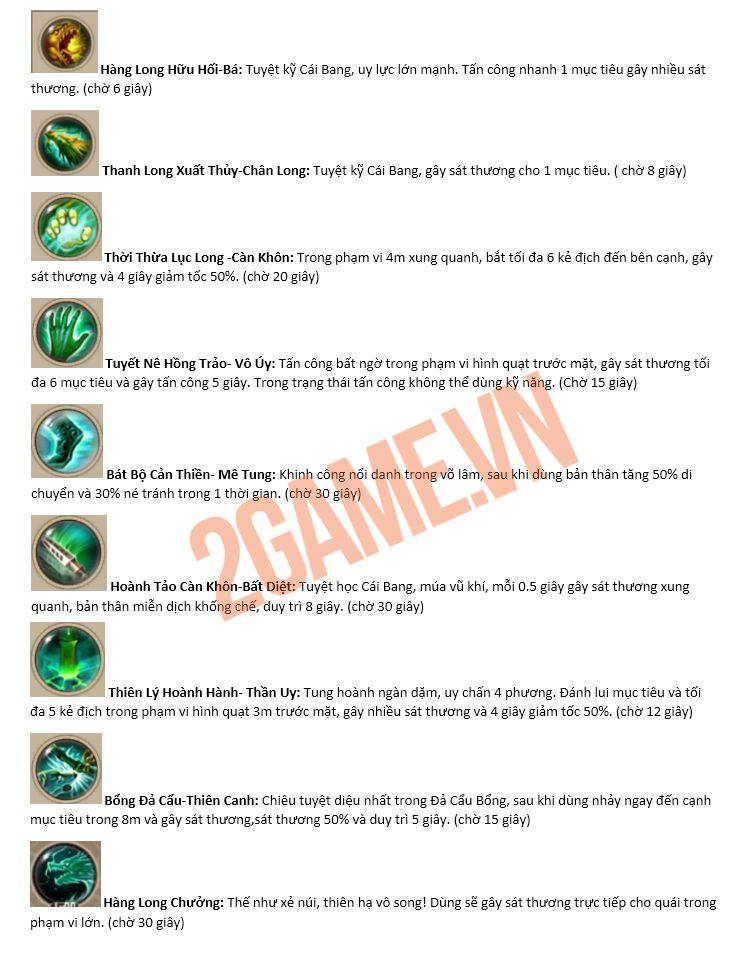 Tìm hiểu về các môn phái trong gameTân Thiên Long Mobile VNG (2)