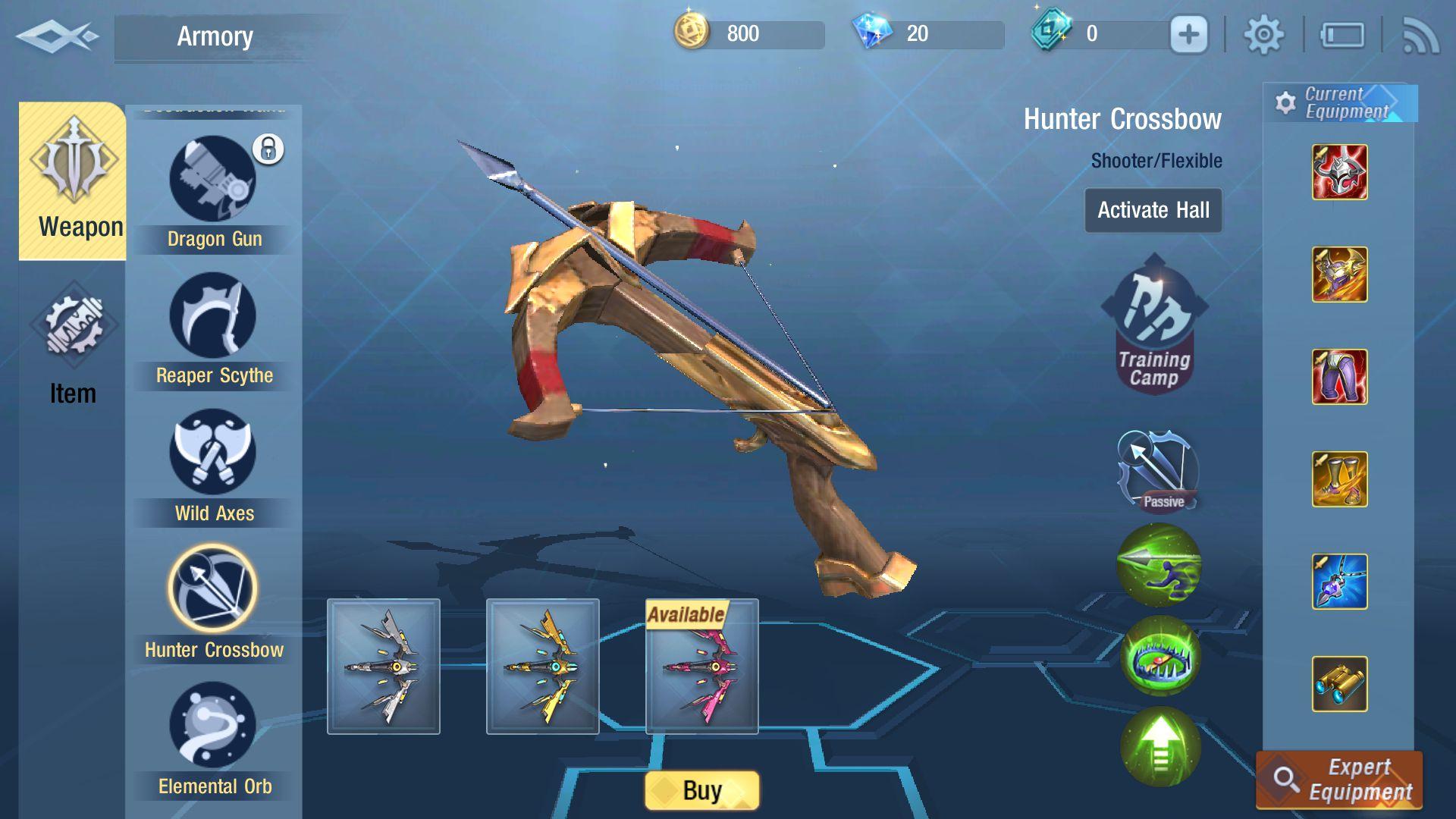 Cách sử dụng vũ khí Nỏ Thần và kết hợp trang bị ngọc Survival Heroes (1)