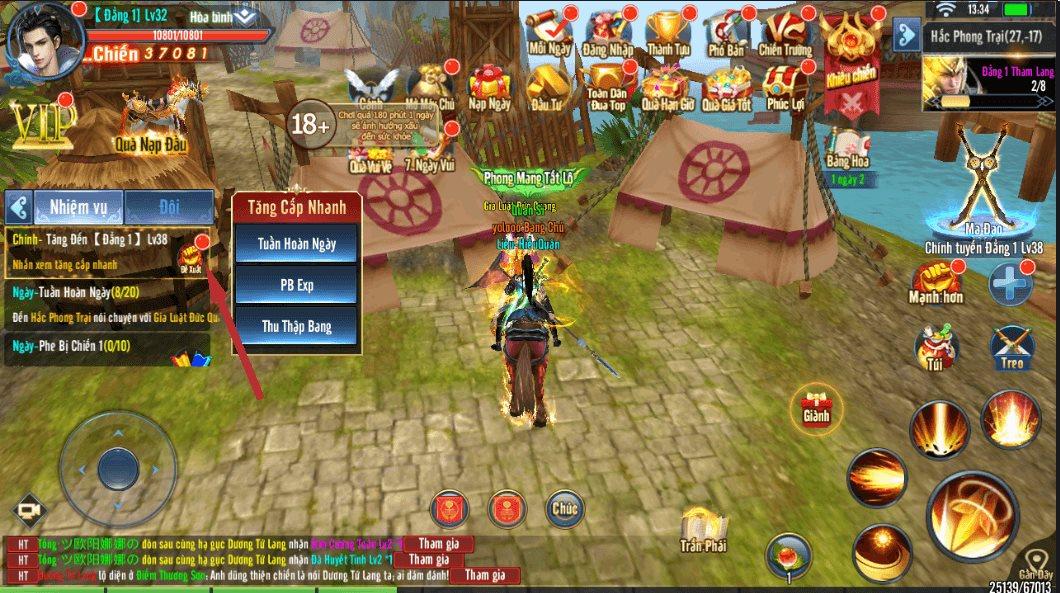 Mẹo chơi, cách chơi Hành Tẩu Giang Hồ Mobile dành cho tân thủ (2)