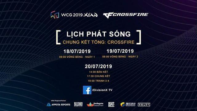 Lịch phát sóng cụ thể các bộ môn của WCG 2019 vòng chung kết (3)