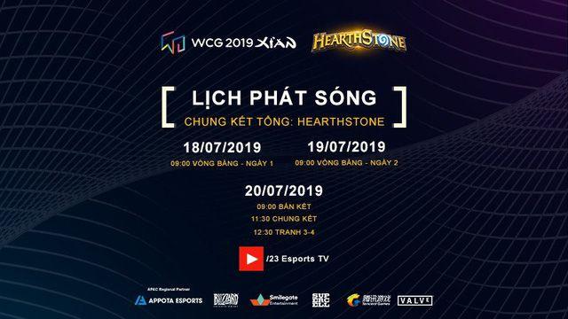 Lịch phát sóng cụ thể các bộ môn của WCG 2019 vòng chung kết (4)