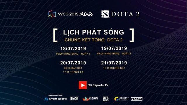 Lịch phát sóng cụ thể các bộ môn của WCG 2019 vòng chung kết (5)