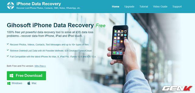 Cách khôi phục tin nhắn, hình ảnh, video đã xóa trên iPhone (2)
