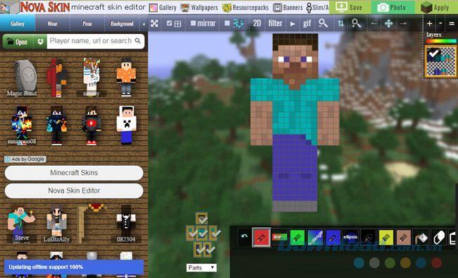 Hướng dẫn cách thay đổi skin trong Minecraft trên máy tính PC (1)
