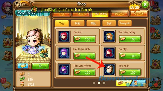 Hướng dẫn cách mua vật phẩm và gia hạn đồ vật trong Gunny Mobi (2)