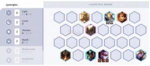 ĐTCL bản 10.3: Cách chơi đội hình 6 Ánh Sáng không Xẻng Vàng (1)