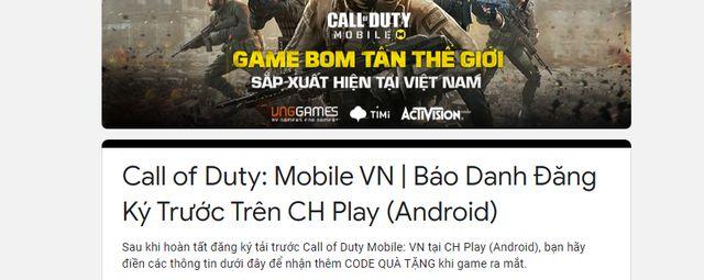 Cách tải và đăng ký Call of Duty Mobile trên Android để nhận quà (4)