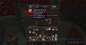 Các loại bùa kiếm, bùa cho cung tên, bùa trang phục trong Minecraft (4)