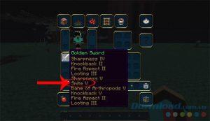 Các loại bùa kiếm, bùa cho cung tên, bùa trang phục trong Minecraft (5)