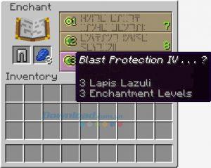 Các loại bùa kiếm, bùa cho cung tên, bùa trang phục trong Minecraft (8)
