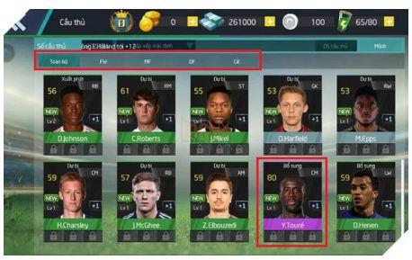 Hướng dẫn cách nâng cấp tất cả các cầu thủ Vua Bóng Đá 2020 (3)