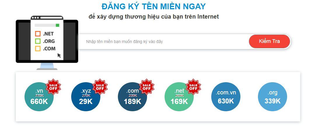 KDATA giảm giá tên miền .com, .vn, .net, .xyz giá chỉ từ 29K (1)