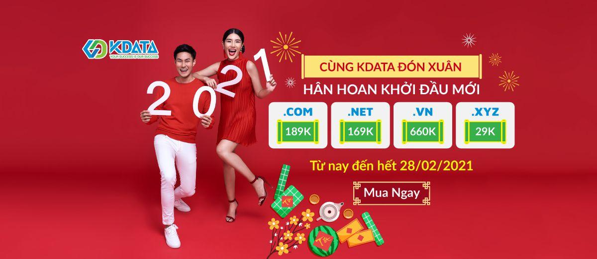 KDATA giảm giá tên miền .com, .vn, .net, .xyz giá chỉ từ 29K